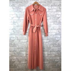 Vintage Vassarette Fleece Robe/Housecoat w/Pockets